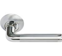 Дверная ручка Morelli Колонна, белый никель/полированный хром